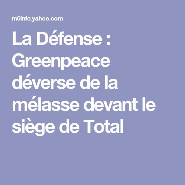 La Défense : Greenpeace déverse de la mélasse devant le siège de Total