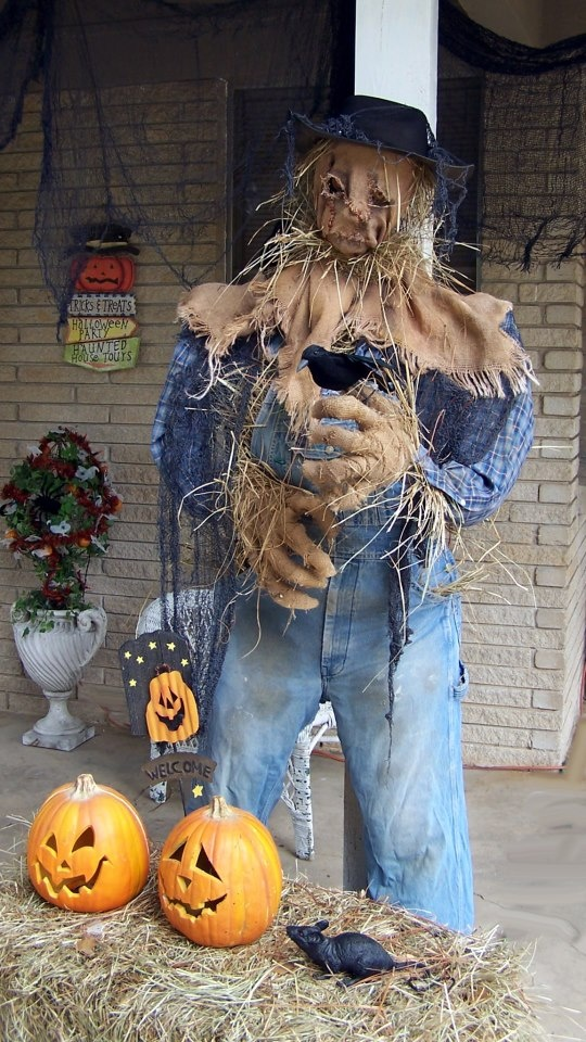 14 best Scarecrow images on Pinterest Gardens, Spring and DIY - halloween scarecrow ideas