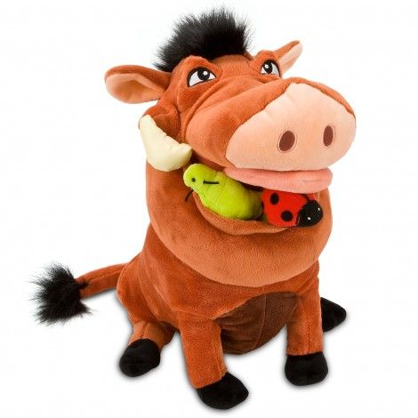 "The Lion King Pumbaa 14"" Plush Toy - My daughter says this is a ""must have"". Too bad the disney store is sold out. :-("