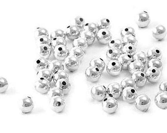 Sterling Silver 2mm Round Seamless Look Spacer Bead for Jewelry Making