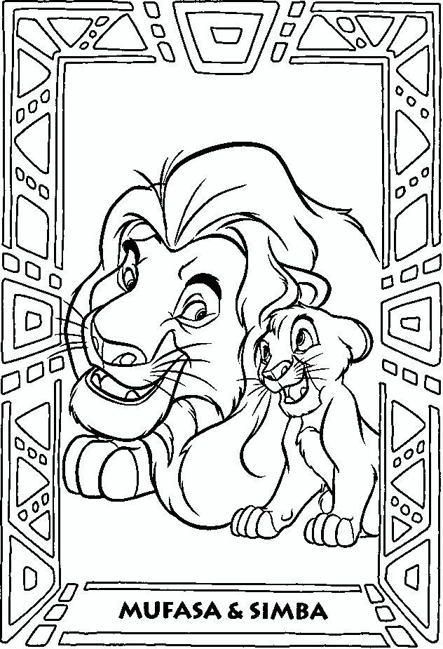17 best images about the lion king on pinterest simba for Lion king christmas coloring pages