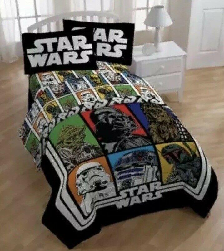 New Star Wars Classic 4 Piece Full Size Sheet Set Boy Or Girl Kids