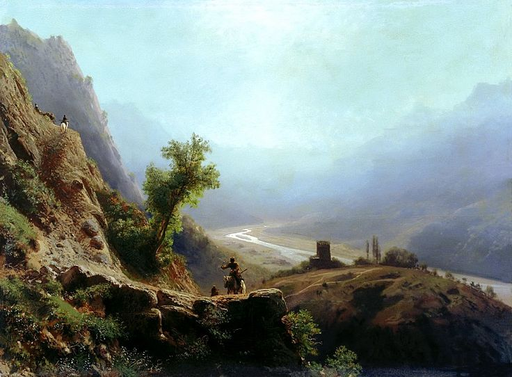 Lagorio Lev - In the mountains of the Caucasus. 900 Classic russian paintings