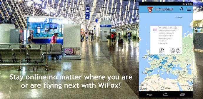 WiFox, The Map Of Current Airport Wireless Passwords Worldwide, Is Now Available On Android via @foxnomad