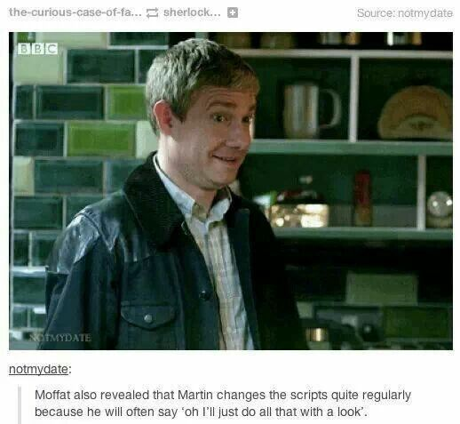 The perfection that is Martin Freeman.: