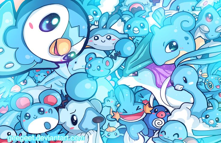 Day 9: I LOVE WATER TYPES