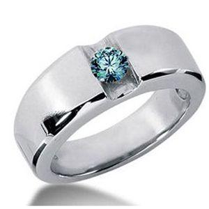Ein Herren Diamantring mit einem blauen Diamanten vom Juwelierhaus Abt in Dortmund