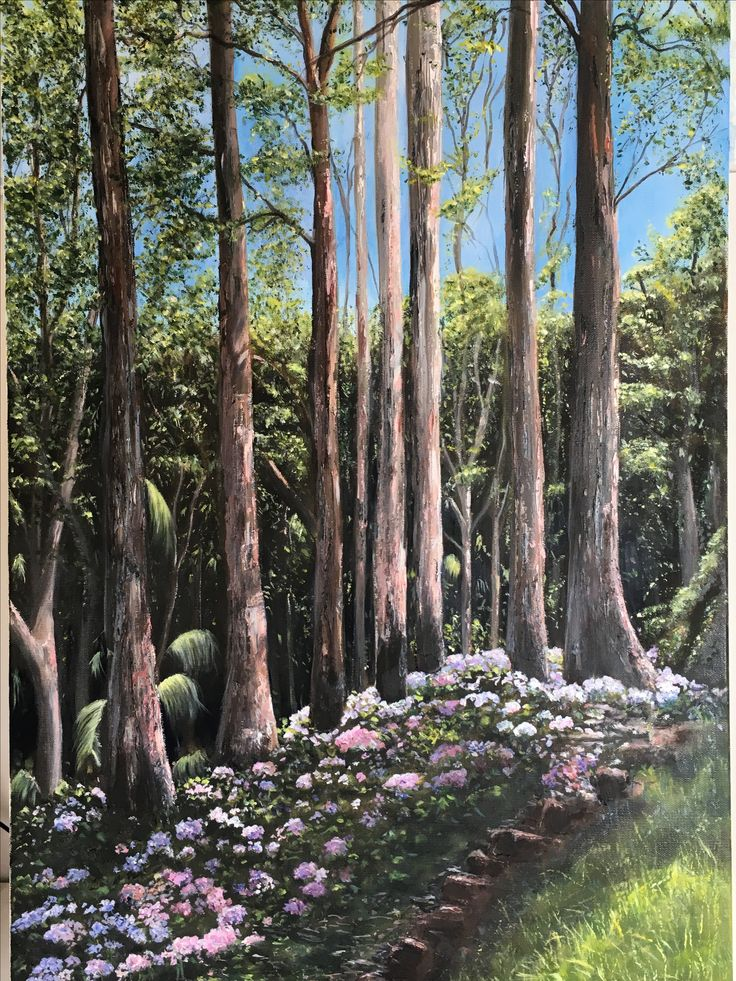 Painted from Tamborine Mountain Botanical gardens