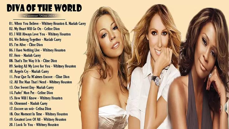 Celine Dion,Mariah Carey,Whitney Houston : Greatest Hits  Best Songs Ful...