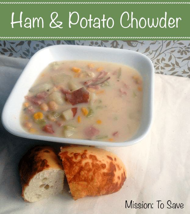 This Ham and Potato Chowder Recipe is so rich and creamy. It's a perfect way to use that leftover ham too!