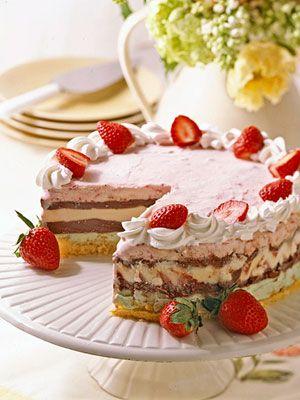 Berry Ice Cream TorteIce Cream Torte, Berries Ice Cream, Ice Cream Cakes, Decadent Ice, Cake Berries, Favorite Recipe, Cake Recipes, Icecream, Torte Recipe