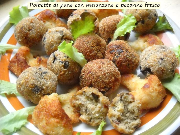 Polpette+di+pane+con+melanzane+e+pecorino+fresco