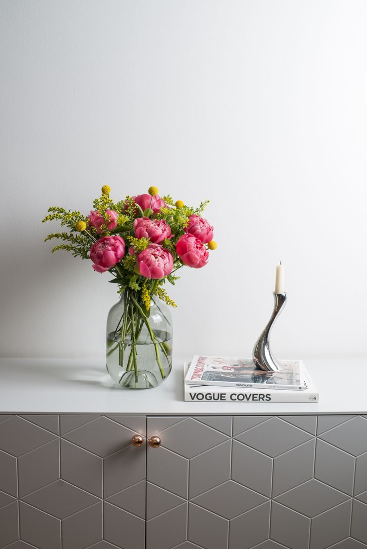 Flowers in vase next day delivery - Shop The Eloise At Our Bouquet Of Coral Peonies On Trend Craspedia And Yellow Solidago With Free Next Day Delivery