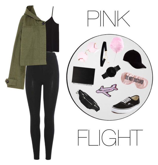 """PINK FLIGHT"" by annelenelala on Polyvore featuring Monki, Yeezy by Kanye West, Vans, Alexander Wang, Stoney Clover Lane, Karen Walker, CLUSE, BaubleBar and T By Alexander Wang"