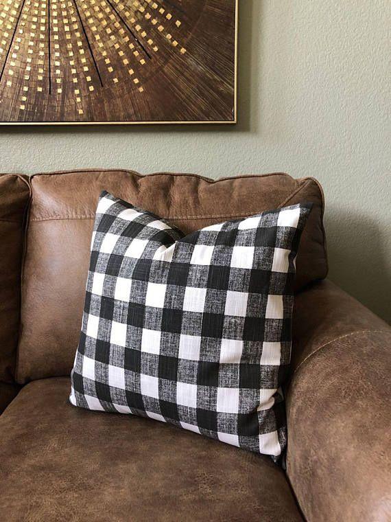 Farmhouse Pillow Covers Buffalo Plaid Farmhouse Decor