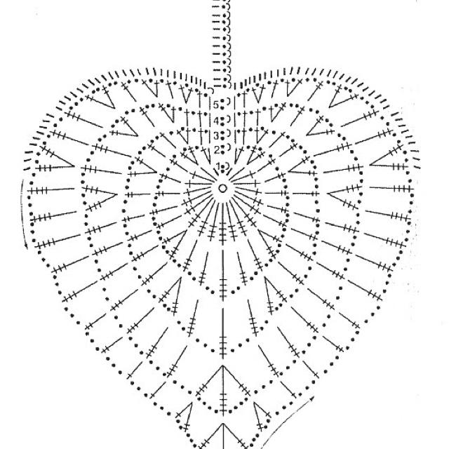 Crochet leaf pattern / Patron hoja ganchillo
