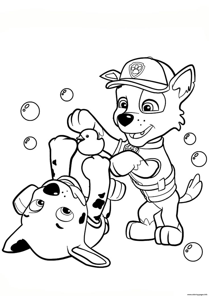 Paw Patrol Rocky And Marshall Coloring Pages Printable Book To Print For Free Find More Online Kids Adults Of