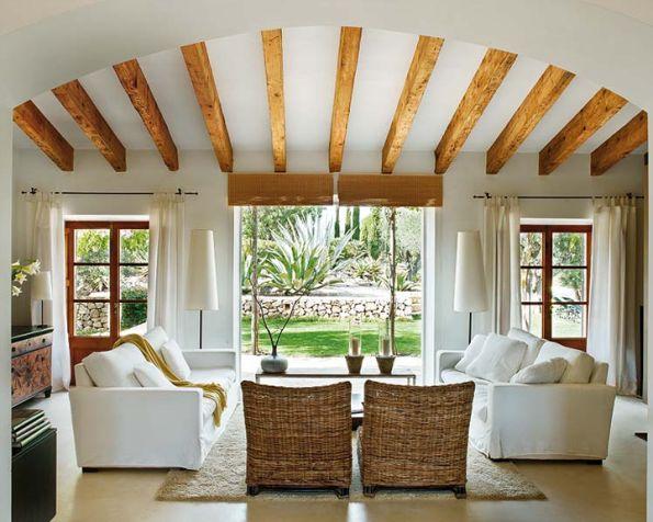 country ev dekorasyonu oturma odası ispanyada yazlık – Dekorasyon Cini