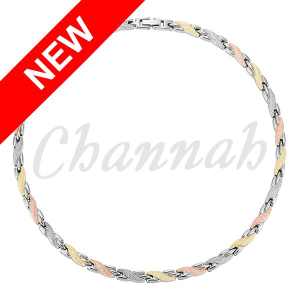 Find More Chain Necklaces Information about 2016 Women 3 Tone Colors Magnetic…