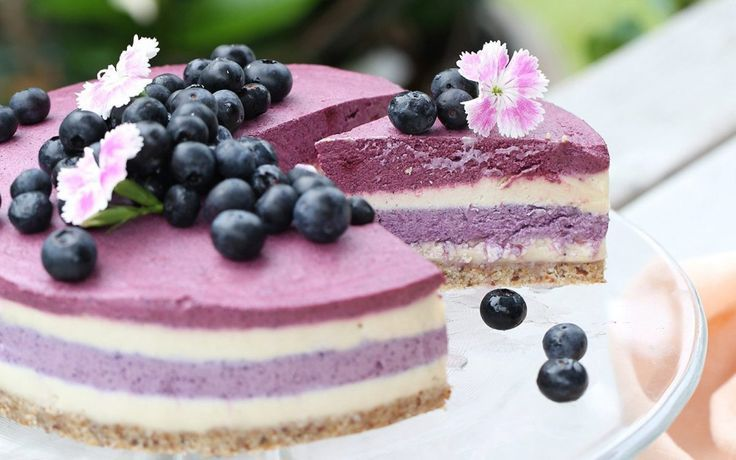 This decadent raw cheesecake is lighter than most raw cheesecakes due to the significant berry content, and is also only very mildly sweet.