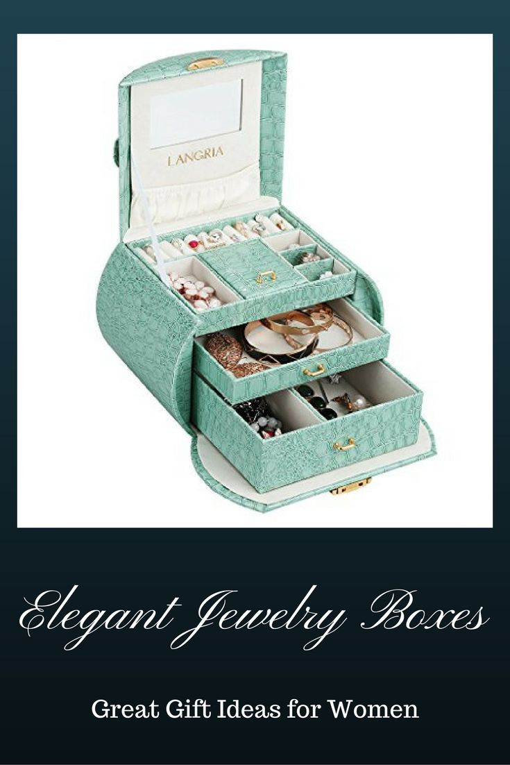 Keep your precious jewelry organized and protected with this very beautiful and elegant jewelry box. This box will go great with any decor. I would be a great gifts ideas for women. large wood jewelry boxes,  large wooden jewelry organizers,  vintage jewelry boxes women,  luxury leather jewelry boxes,  large leather jewelry boxes,  travel jewelry boxes women,  small travel jewelry box,  cherry wood jewelry boxes women,