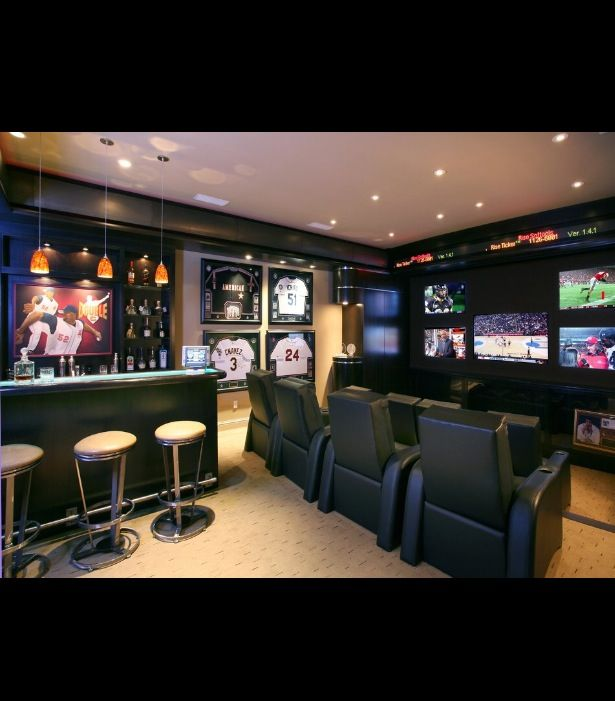 Mind Blowing Home Theaters For Your Dream Homes: Dream Man, Caves And Woman Cave