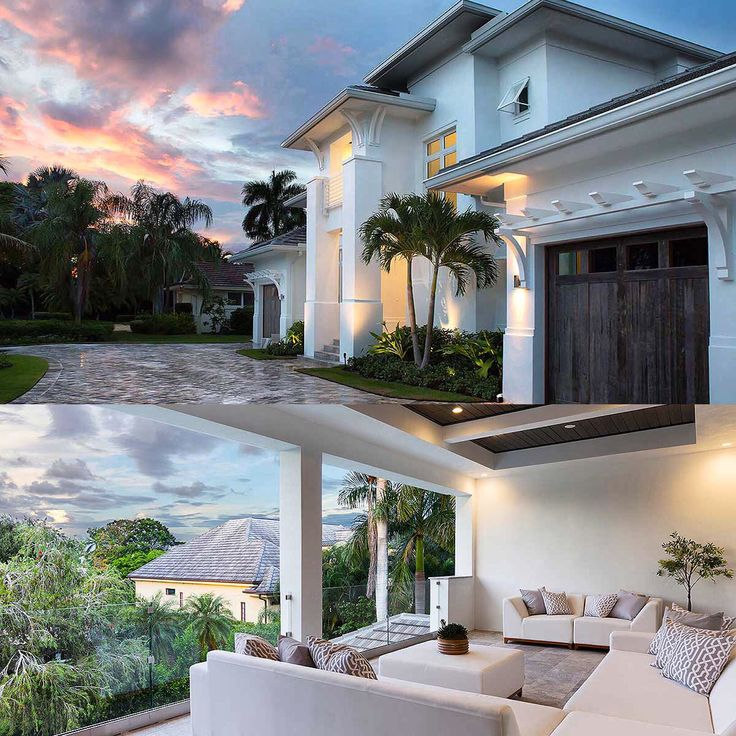 Plan 86041BW Grand Florida House Architectural Design Plans Dusk And Square Feet