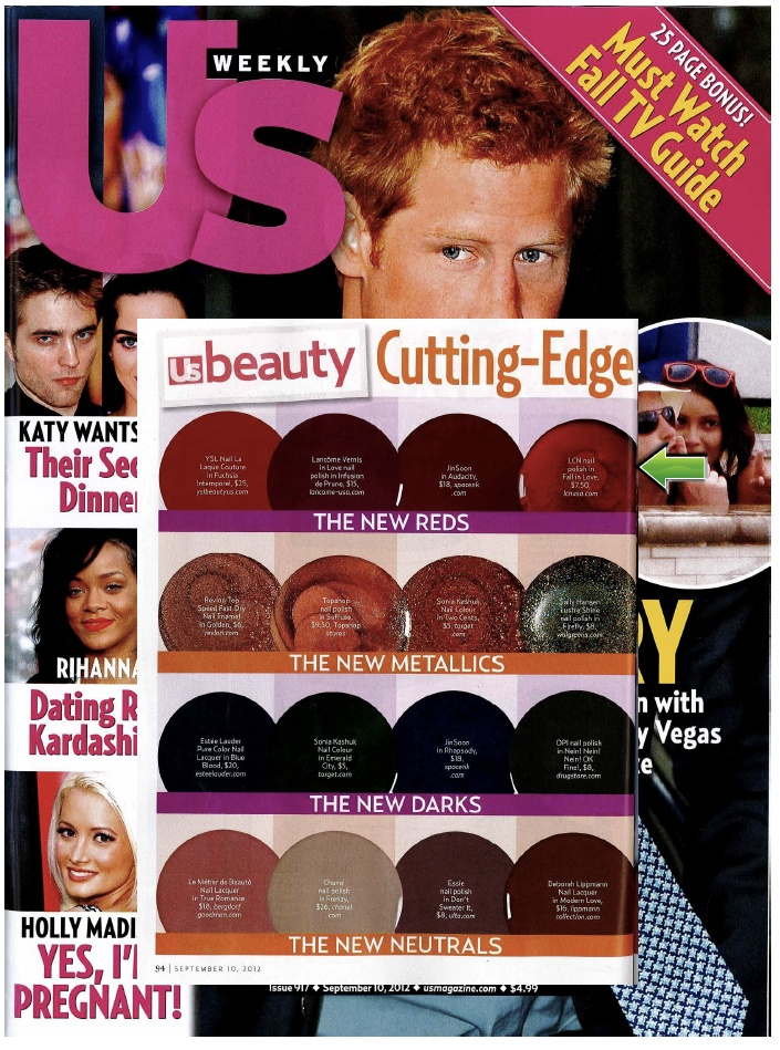 US Weekly features LCN's polish Fall In Love.