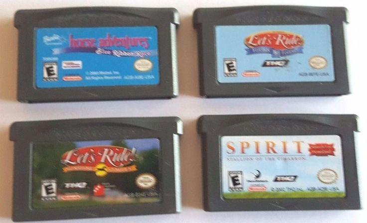 4 Gameboy Advance Games Horses Lot LET'S RIDE ~ SPIRIT ~ BARBIE HORSE ADVENTURES