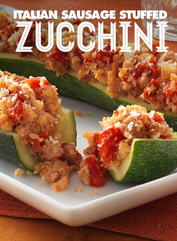 italian sausage stuffed zucchini sausage stuffed zucchini stuffed ...