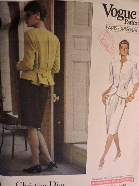 SeeSallySew.com - Christian Dior Paris Original Jacket