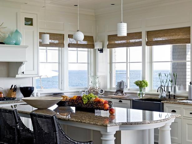 I'll take that view!  7 Coastal-Inspired Kitchens : Kitchen Remodeling : HGTV Remodels.