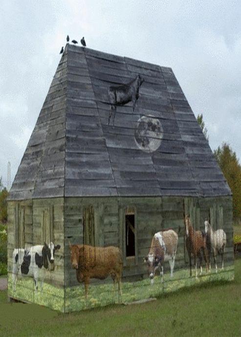 Barn With Animals Imaged On It. Love it, love it, love it!