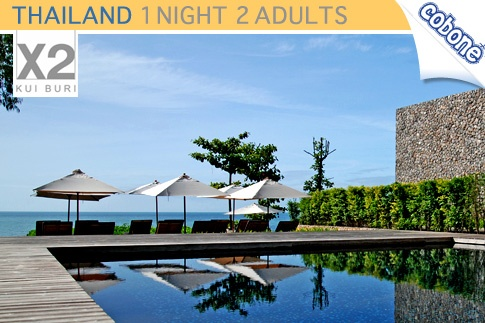 Experience true luxury in Kui Buri, Thailand; with a night stay in a Deluxe Pool Villa at X2 Resort, inclusive of a Bubbly Breakfast for USD 177 (Value USD 497) – A Perfect Romantic Getaway for 2!
