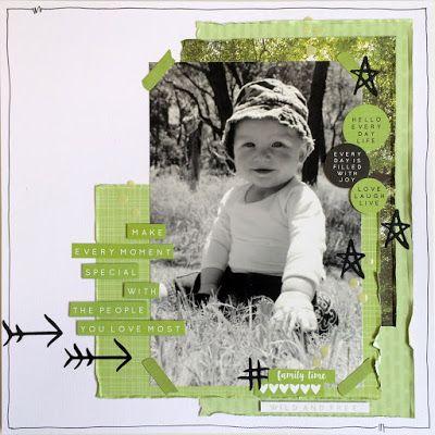 Kaisercraft My Year, My Story  ink. paper. cloth. life.: Paper Flourish Kit Club DT - Dec 2015
