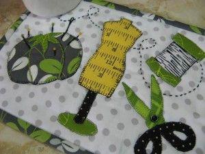 Stitching Stuff MugRug - easy fun pattern! http://quilting.myfavoritecraft.org/quilted-mug-rugs-patterns/