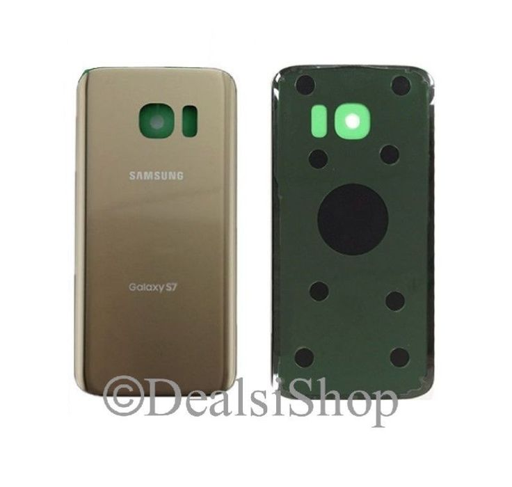 Tmobile Samsung Galaxy S7 G930T Rear Glass Battery Door Cover Gold wAdhesive USA