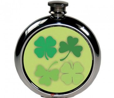 6oz Round Shamrock Picture Flask http://iluvscotland.co.uk/occasions/saint-patricks-day  £49.99