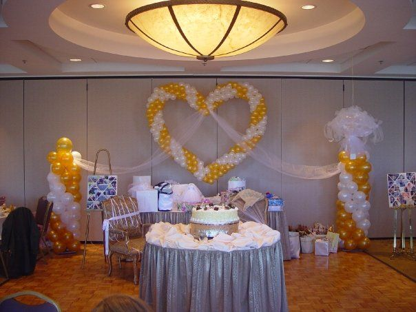 42 best images about wedding decorations balloon for Wedding hall decoration photos