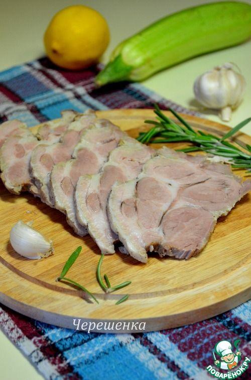 Тушеная свинина в рукаве в мультиварке - кулинарный рецепт