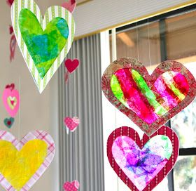 It's been a while since my kids and I made tissue paper Stained-Glass Hearts for Valentine's Day. And since I have been all up in my dining ...
