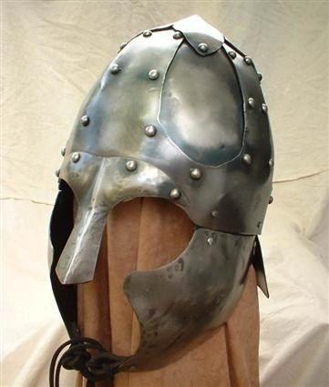Hand forged medieval helmet / armor.