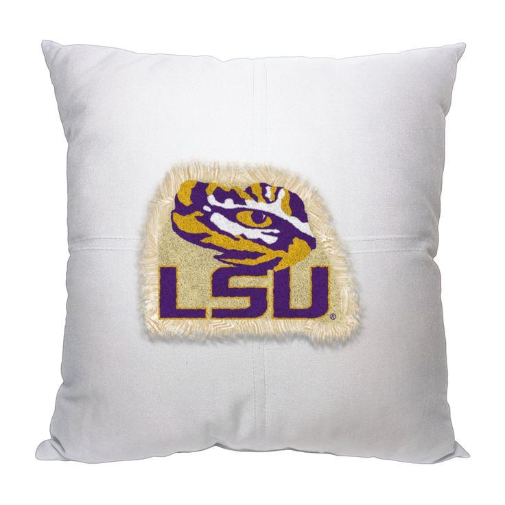 "LSU College 18""""x18"""" Letterman Pillow"