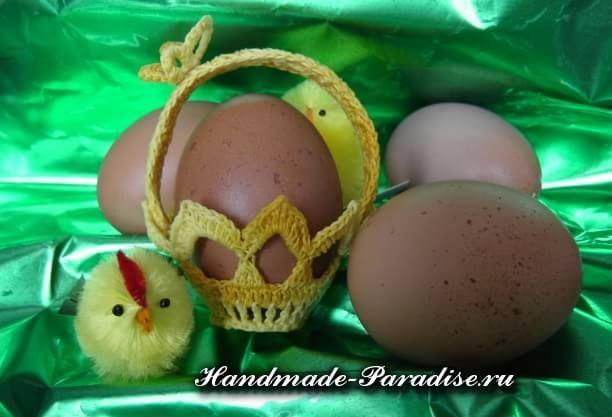 Вязание крючком корзинки для пасхальных яиц. Корзинки отлично впишутся в дизайн праздничного интерьера дома, ими можно украсить сервировку пасхального стола
