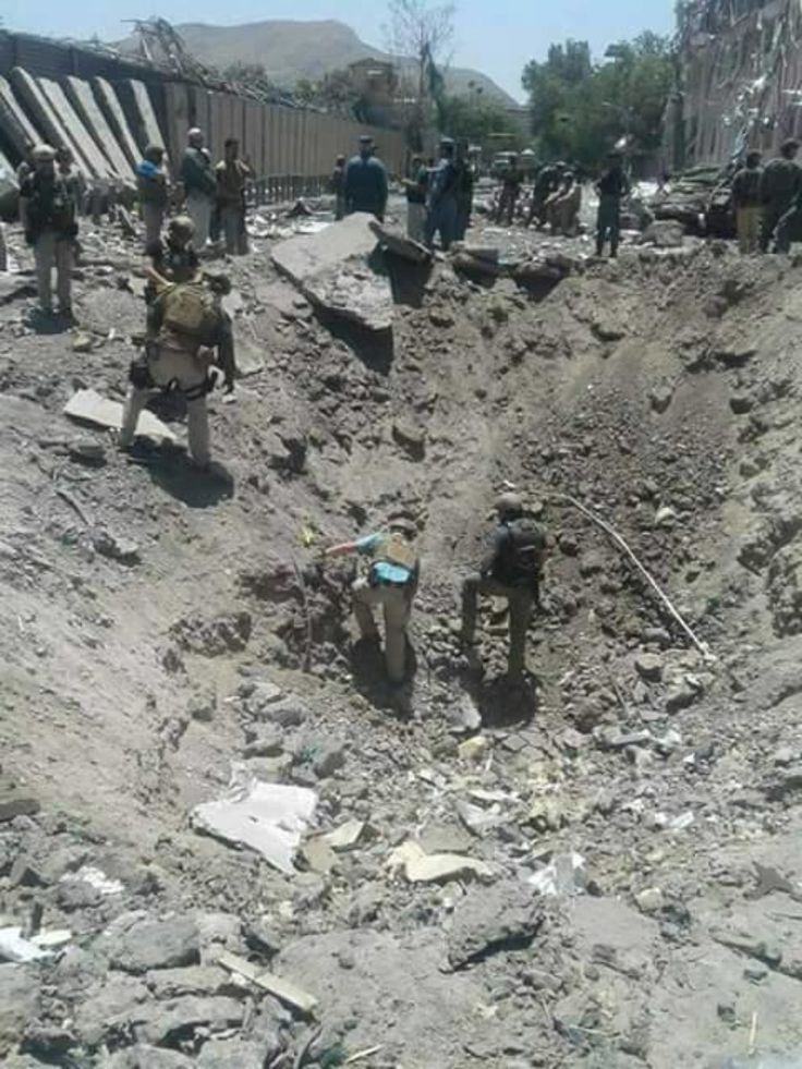 """A vehicle-borne improvised explosive device (VBIED) was detonated near diplomatic facilities in the Afghan capital during rush hour this morning. Preliminary casualty reports say that at least 80 people were killed in the blast and dozens more wounded. A photo of the aftermath of the bombing (seen above) was posted on Twitter by Afghanistan's Ariana News. The bomb exploded at 8:22 am local time """"in Kabul near Zambaq Square outside the Green Zone, which houses diplomatic and governmen..."""