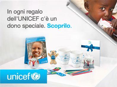 Acquistare i regali e i biglietti dell'UNICEF rivela quanto ti sta a cuore il futuro dei bambini.