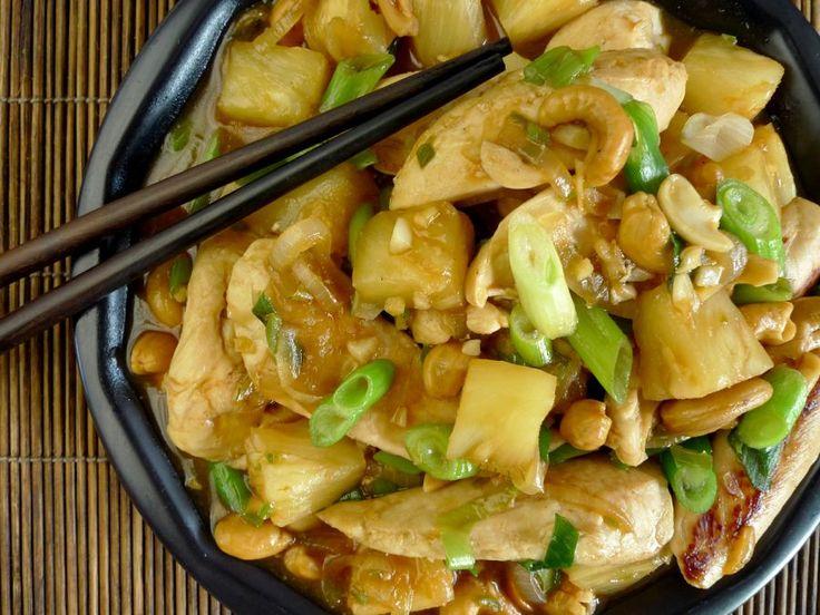 Zoetzure kip met ananas