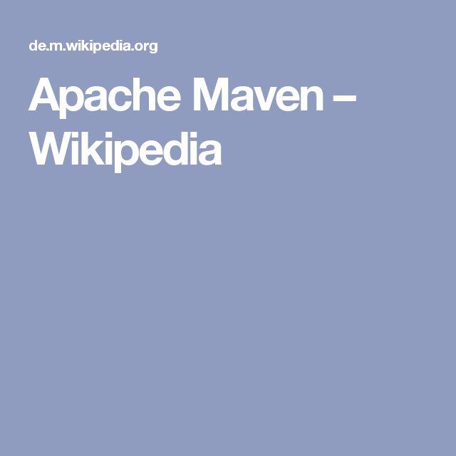 Apache Maven – Wikipedia