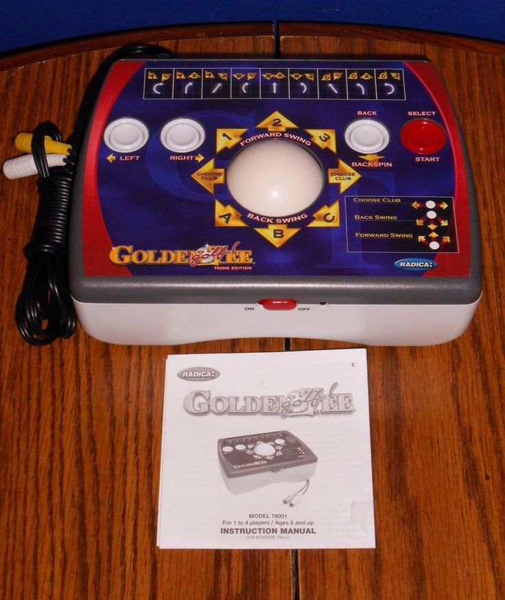 2005 GOLDEN TEE GOLF HOME EDITION ARCADE PLUG & PLAY TV VIDEO GAME BY RADICA  #Radica