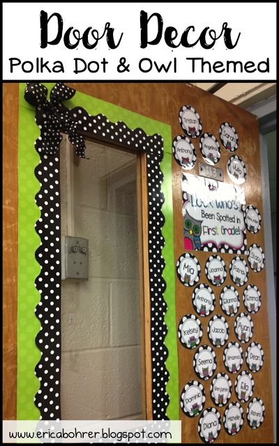 Black and White Polka Dot Classroom Decor Ideas | Erica's Ed-Ventures